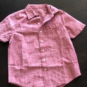 Arizona red chambray boys button down